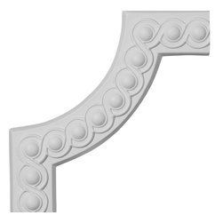 """Ekena Millwork - 10 1/4""""W x 10 1/4""""H Foster Running Coin II Panel Moulding Corner - 10 1/4""""W x 10 1/4""""H Foster Running Coin II Panel Moulding Corner. Our beautiful panel moulding and corners add a decorative, historic, feel to walls, ceilings, and furniture pieces. They are made from a high density urethane which gives each piece the unique details that mimic that of traditional plaster and wood designs, but at a fraction of the weight. This means a simple and easy installation for you. The best part is you can make your own shapes and sizes by simply cutting the moulding piece down to size, and then butting them up to the decorative corners. These are also commonly used for an inexpensive wainscot look."""
