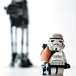 """""""Stormtrooper Portrait"""" by Mike Stimpson - This piece covers your child's love of Legos and Star Wars at the same time."""