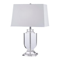 gallery - Crystalrn Table Lamp with Shade - Stunning Crystal table lamp is perfect for any room! Shade included!