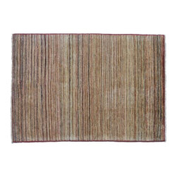Oriental Rug, 100% Wool Hand Knotted 3'X5' Gabbeh Peshawar Striped Rug SH8236 - Our Modern & Contemporary Rug Collections are directly imported out of India & China.  The designs range from, solid, striped, geometric, modern, and abstract.  The color schemes range from very soft to very vibrant.