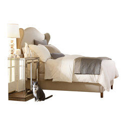 Hooker Furniture - Hooker Furniture Sanctuary 5 Piece Bed Bedroom Set in Bling - Hooker Furniture - Bedroom Sets - 3016909XX5PKG - Hooker Furniture Sanctuary Two-Door Mirrored Nightstand in Visage (included quantity: 2)