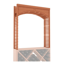 """Wine Racks America - Large Wine Cellar Arch in Redwood, (Unstained) - A special Decorative Cellar Arch creates a beautiful centerpiece with any 35"""" surface area. This large Arch is sure to impress even the pickiest of visitors. Our beautiful arches integrate seamlessly into our modular wine rack kits. Satisfaction is guaranteed."""
