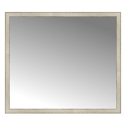 """Posters 2 Prints, LLC - 48"""" x 42"""" Libretto Antique Silver Custom Framed Mirror - 48"""" x 42"""" Custom Framed Mirror made by Posters 2 Prints. Standard glass with unrivaled selection of crafted mirror frames.  Protected with category II safety backing to keep glass fragments together should the mirror be accidentally broken.  Safe arrival guaranteed.  Made in the United States of America"""