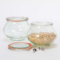 Weck Deco Jar Set - I like the shape of these Weck jars. They're another option just like the popular Mason and Kerr jars.