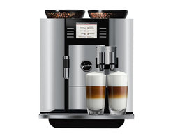 Jura - Refurbished Jura GIGA 5 - Experience the next tier of home brewing with the Jura Giga 5 One-Touch Super-Automatic espresso machine. Entertain like never before with the Giga 5's generous bean and water capacities and incredible dual grinding and brewing systems. Create two different one-touch specialty drinks at the same time or choose from one of 19 individually programmable specialty coffees. Aesthetic considerations such as the Giga 5's intuitive full color display or its illuminated beverage spouts or its aluminum front paneling mean a seamless transition into your home. Maintaining your machine is made easier by the Giga 5's numerous automatic maintenance functions, which take the labor out of your luxury. Bring home the new standard of home espresso with the Jura Giga 5 One-Touch Super-Automatic espresso machine.