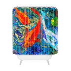 DENY Designs - Elizabeth St Hilaire Nelson Koi Shower Curtain - Who says bathrooms can't be fun? To get the most bang for your buck, start with an artistic, inventive shower curtain. We've got endless options that will really make your bathroom pop. Heck, your guests may start spending a little extra time in there because of it!