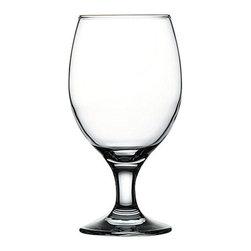 Hospitality Glass - 6.25H x 2 3/4T x 2 3/4B Capri 13.25 oz Beer Glasses 24 Ct - Capri 13.25 oz Goblet