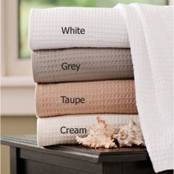 Gilden Tree - Classic Waffle Bath Towel - set of 2 - Set of Two 100% Cotton Waffle Bath Towels are incredibly light and absorbent!