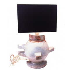 Mold Lamp - For those of you who love all things Industrial this Lamp may be right up your alley.  The mold itself, I was told, came from a factory that made urns and vases. With its simplistic lines this makes the perfect addition to any decor with the emphasis on Architectural and industrial elements.