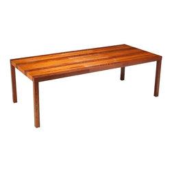 Dyrlund - Consigned Mid Century Danish Modern Parsons Style Rosewood Dining Table - • Mid Century Modern   Danish