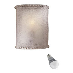 Minka Lighting - Single-Light Sconce with LED Bulb - 338-1/8W LED - Includes one 9.5-watt LED bulb based on a breakthrough and patented technology to last 6 times longer than compact fluorescent bulbs and 35 times longer than an incandescent. Features a medium base with white diffuser and vented heat sink. Takes (1) 9.5-watt LED A19 bulb(s). Bulb(s) included. Dry location rated.