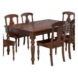 Jofran - Jofran 733-66 Urban Lodge Rectangle Leg Dining Table in Rustic - Materials: Solid Asian hardwood.