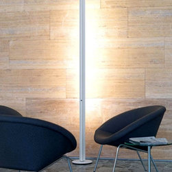 "BELUX - BELUX Ypsilon floor lamp - The Ypsilon floor lamp has been designed by Hannes Wettstein for Belux. The YPSILON is an energy-saving standing light for wide verticle illumination of a room or a wall the light is absolutely flicker free and dimmable up to 1%. This fixture includes blue, yellow, and orange color clips. The Ypsilon floor lamp is makes a bold artistic statement with its flawless design.   Product Details:  The Ypsilon floor lamp has been designed by Hannes Wettstein for Belux. The YPSILON is an energy-saving standing light for wide verticle illumination of a room or a wall the light is absolutely flicker free and dimmable up to 1%. This fixture includes blue, yellow, and orange color clips. The Ypsilon floor lamp is makes a bold artistic statement with its flawless design.  Details:                         Manufacturer:             Belux                            Designer:                        Hannes Wettstein - 1999                                         Made in:                        Switzerland                                         Dimensions:                         Height: 78 3/8"" (199 cm) X Width: 2 3/4"" (6.9 cm) X Base: 9 1/2"" (24 cm)                                         Light bulb:                         1 X 58W fluorescent                                         Material:             metal"