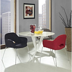 "LexMod - Cordelia Dining Chairs Set of 3 in Multicolored - Cordelia Dining Chairs Set of 3 in Multicolored - Participate in renewed growth and actualization with the Cordelia Side Chair. Sit comfortably as an aspirational back and up-surging arms compliment a dual-tone tweed fabric cushion. Sleek chrome legs solidify the progress as unlocked potentials are established with ease. Set Includes: Three - Cordelia Armchairs Comfort combined with solid form, Dual-tone upholstered tweed cushion, Chrome legs with non-marking feet Overall Product Dimensions: 24""L x 25.5""W x 31""H Seat Height: 19""H - Mid Century Modern Furniture."