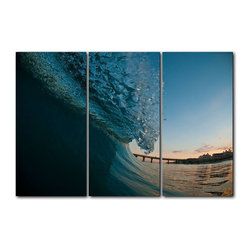 "Ready2HangArt - Ready2hangart Nicola Lugo Canvas Surf Art 3-PC Set - Renowned Surf Photographer Nicola Lugo, takes you behind the lens of his travels worldwide. This photograph is offered as part of a limited ""Home Decor"" line, being the perfect addition to any living or work space."