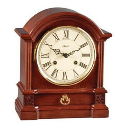 HERMLE - Hermle Hollins Barrister Mechanical Mantel Clock - Cherry finish with fluted molding
