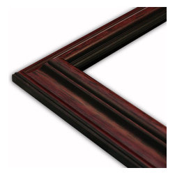The Frame Guys - Traditional Slope Mahogany Picture Frame-Solid Wood, 10x10 - *Traditional Slope Mahogany Picture Frame-Solid Wood, 10x10