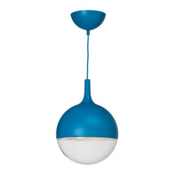 Väster LED Pendant Lamp - Looking for the perfect midcentury modern look that's not over the top? Ikea offers some clean-lined solutions that are great for any budget. This Väster pendant comes in this indigo blue, burnt orange and classic white.