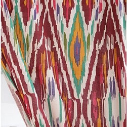 Diamond Ikat Curtain - Ikat curtains are so lively and really add punches of color to your windows.