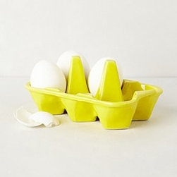 "Anthropologie - Half-Dozen Egg Crate - StonewareDishwasher and microwave safe2.75""H, 6""W, 4""DImported"