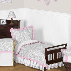 Sweet Jojo Designs - Sweet Jojo Designs Girl 5-piece Kenya Toddler Comforter Set - This Sweet Jojo Designs 5-piece toddler bedding collection will create a stunning boutique setting for your child. This designer girl bedding set uses a sensational collection of exclusive 100-percent cotton fabrics.