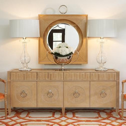 Global Views French Key Everything Cabinet - Round pull handles accented by inset circles add extra symmetry to this beautiful buffet.