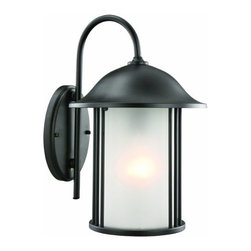 DHI-Corp - Hannover Outdoor Downlight, 9-Inch by 14-Inch, Black - The Design House 516799 Hannover Outdoor Downlight greets your guests at the door with a soft, inviting glow. Black finish, frosted glass and sleek details will add a modern touch to the outside of your home. The clean finish and cylinder construction make a contemporary lantern that illuminates your walkway. Measuring 9-inches by 14-inches, this lamp matches brick, stone, wood paneling or aluminum siding. This wall mount features a 60-watt medium base incandescent lamp and is rated for 120-volts. UL listed and UL approved for wet areas, this uplight will not break or rust in harsh weather conditions. Coordinate your home with fixtures and furnishings from the Hannover collection for a complete look. The Design House 516799 Hannover Outdoor Downlight comes with a 10-year limited warranty that protects against defects in materials and workmanship. Design House offers products in multiple home decor categories including lighting, ceiling fans, hardware and plumbing products. With years of hands-on experience, Design House understands every aspect of the home decor industry, and devotes itself to providing quality products across the home decor spectrum. Providing value to their customers, Design House uses industry leading merchandising solutions and innovative programs. Design House is committed to providing high quality products for your home improvement projects.