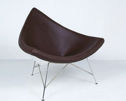 Modern Classics - Nelson: Coconut Chair Reproduction - Leather - Features: