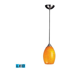 Elk Lighting - Elk Lighting 517-1CN-LED Mulinello 1-LED Light Pendant with Canary - Elk products are highly detailed and meticulously finished by some of the best craftsmen in the business.