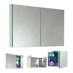 Fresca - Fresca FMC8010 40 Inches Wide Bathroom Medicine Cabinet With Mirrors, Mirror, 40 - Fresca FMC8010 40 Inches Wide Bathroom Medicine Cabinet With Mirrors