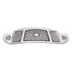 Hickory Hardware - Southwest Lodge Cup Pull (Set of 10) - Color/Finish: Silver Medallion.