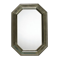 Elijah Mirror - %The Elijah Mirror by Oly presents an antiqued mirrored detailed frame that beautifully mimics the lines of this elongated octagon non-antiqued mirror. The Elijah Mirror encompasses a beautiful design, combined with sleek traditional glamour and simplistic function. Blending the traditional with the modern, Oly provides a style that works well in a wide range of environments.