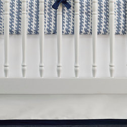 """Serena & Lily - Serena & Lily Nursery Basics Crib Skirt - The perfect backdrop for color and pattern, our versatile crib bedding works well with practically everything. Add any of our patterned crib sheets to create the look (or looks) you love. 100% cotton twill. Flat-front skirt with a contrasting band along bottom hem. White skirt has a white band along bottom hem. Machine wash. Imported. Drop length: 17""""."""