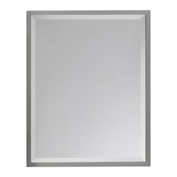 Murray Feiss - Brushed Steel Mirror - Item Weight: 16.2 lbs.