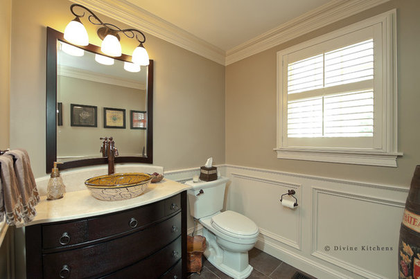 Traditional Powder Room by Divine Design+Build
