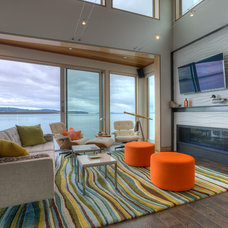 Beach Style Living Room by Dan Nelson, Designs Northwest Architects