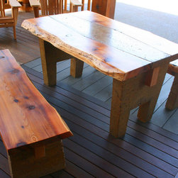 Rustic Polished Concrete and Western Red Cedar Set -