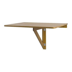 IKEA of Sweden - NORBO Wall-mounted drop-leaf table - Wall-mounted drop-leaf table, antique stain