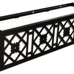 """Nottingham Window Boxes - Our Nottingham Window Boxes are perfect for historical styles and modern revitalized styles of architecture. Our Aluminum Window Boxes can be installed on any surface with the use of standard lag screws (sold separately). Follow our """"how to install window boxes"""" tips for safe and secure installation. Detailed instructions come included with the box."""