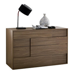 Rossetto - Rossetto Square 4 Drawer  Dresser in Walnut - Rossetto - Dressers - T411000000001 - The walnut finish adds a natural elegance to the square dresser. It is a great matching piece to the Could brown platform bed (sold separately).
