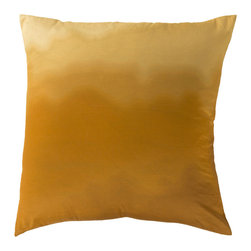 "Surya - Square Cotton Pillow SY-005 - 22"" x 22"" - Looking to create a fresh, light feeling within your home? This is the pillow for you. Featuring an ombre inspired pattern, this piece blends gold and white coloring to create a modern, crisp design that is sure to be the focal point of any space. This pillow contains a zipper closure and provides a reliable and affordable solution to updating your home's decor."
