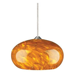 Tech Lighting - Tech Lighting | Meteor Pendant - Dome shaped case glass available in choice of glass colors. Provides direct and diffused ambient illumination. Includes six feet of field-cuttable suspension cable (custom lengths available).Choosing your connector:
