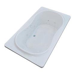 Arista - Fabriano 42 x 72 Air & Whirlpool Drop-In Bathtub w/ Center Drain - Left Pump - DESCRIPTION