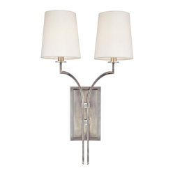 Hudson Valley Lighting - Hudson Valley Lighting 3112-AN Glenford 2 Light Wall Sconce, Antique Nickel - This 2 light Wall Sconce from the Glenford collection by Hudson Valley Lighting will enhance your home with a perfect mix of form and function. The features include a Antique Nickel finish applied by experts. This item qualifies for free shipping!