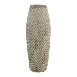 Selectives - 18.5-Inch Tall Mosi Ceramic Vase - Accentuate the décor of your home with this wonderful ceramic piece.    Purposely designed to add a touch of style to any table setting.  Maximize its beauty by adding a fresh bunch of flowers.