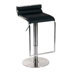 Eurostyle - Eurostyle Forest Bar/ Counter Stool in Black & Satin Nickel - Bar/ Counter Stool in Black & Satin Nickel belongs to Forest Collection by Eurostyle There are some rooms that demand the look and feel of leather and wood. They are usually the same rooms that demand outstanding build quality and the elegance of a satin nickel frame. Last call for excellent taste. Bar/ Counter Stool (1)