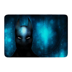 """KESS InHouse - Mandie Manzano """"Dark Knight"""" Memory Foam Bath Mat (24"""" x 36"""") - These super absorbent bath mats will add comfort and style to your bathroom. These memory foam mats will feel like you are in a spa every time you step out of the shower. Available in two sizes, 17"""" x 24"""" and 24"""" x 36"""", with a .5"""" thickness and non skid backing, these will fit every style of bathroom. Add comfort like never before in front of your vanity, sink, bathtub, shower or even laundry room. Machine wash cold, gentle cycle, tumble dry low or lay flat to dry. Printed on single side."""