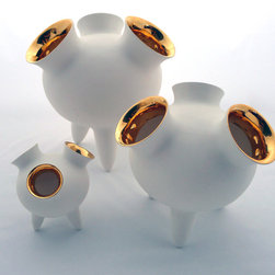 Must Have Accents. - a new breed of home accessories available now, the Gold and White porcelain home creation by Britto Charette Home.