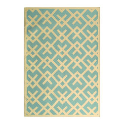 Safavieh Dhurries DHU552B Light Blue - Ivory Area Rug - Safavieh Dhurries DHU552B Light Blue - Ivory Area Rug