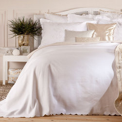 Miriam-Pompom Oro Duvet Cover - I love bedding that incorporates fringe or pom-pom details to add subtle color and texture.